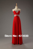 Reference Images Sweetheart Chiffon 2014 Stocked 2014 Sweetheart Sequined Beaded Ruched Floor-length Chiffon Red Long Cheap Prom Dress Under $50 2014