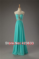 Reference Images Off-the-Shoulder Chiffon 2014 Stocked Prom Dress Under $50 Sequined Sweetheart Floor-length Chiffon Long Prom Dress Under $50 Cheap