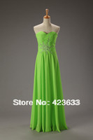 Reference Images Off-the-Shoulder Chiffon 2014 Stocked Ruched Sweetheart Beaded Chiffon Floor Length Lace Up Apple Green Prom Dress Under $50