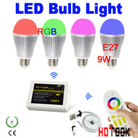 Wholesale 2 G Group Division E27 RGB W LED Bulb Light Color Temperature Brightness Adjustable Bulbs Lamp Led with WIFI Control Remote85 V CE ROHS