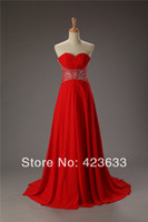 Reference Images Sweetheart Chiffon Stocked Red Prom Dress 2014 Ruched Sweetheart Beaded Chiffon Floor Length Long Prom Dress Under $50