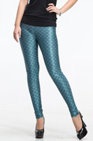 Foot Cover Women Leggings 2013 Summer Sexy Ladies Novelty Mermaid Fish Scale Green Shimmer Stretchy Leggings LB13082 Size S-M L-XL
