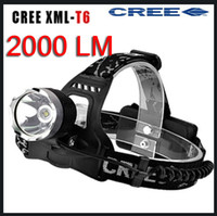 Wholesale High brightness CREE XML T6 LED LM Headlamp Headlight Head lamp light Lm Zoomable Zoom torch IN OUT
