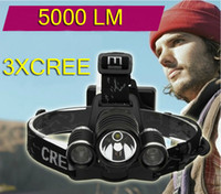 Wholesale High brightness XCREE XML T6 LED LM Headlamp Headlight Head lamp light Lm Zoomable Zoom torch IN OUT