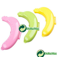 Silicone Bedding Eco Friendly New arrive: Cute Banana Fruit Protector Guard Container Storage Case Lunch Trip Outdoor Box wholesale