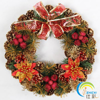 christmas wreath ring - Shi Cai Christmas Gifts Christmas wreath ring small candelabra candle holders decorated Christmas scene props