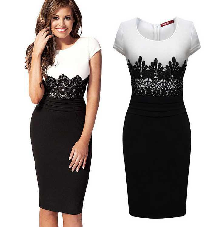 Women Work Wear Spring 2015 Plus Size Mini Bodycon Dress -Y592 ...