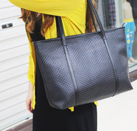 Wholesale Fashion Female PU Leather Soft Shopper Hobo Tote Handbag Double Use Shoulder Bag