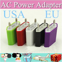 Wholesale 2000pcs AC Power Adapter US Plug USB Wall Travel Charger US EU Adapter for iphone S for Samsung Galaxy Cellphones Multi color AA