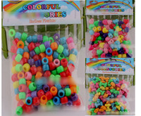 Wholesale 8 off on sale Rainbow loom kits DIY weave Colored beads accessories Rubber band pendant in each bag DROP SHIPPING OM