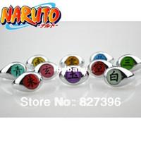Wholesale 10xPCS Naruto Black Akatsuki Ring Set Sasori Itachi Hidan Deidara