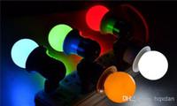 Red 3w led red - 100PCS RGB Full Color W W W E27 LED ball Bulb light Effect DJ globe Lamp Light bubble Bulb Stage Lighting