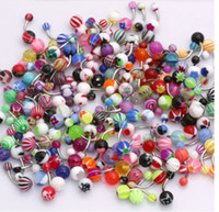 Wholesale Whitney_Houston Body Jewelry Piercing Eyebrow Navel Belly Tongue Lip Bar Rings Mixed Color