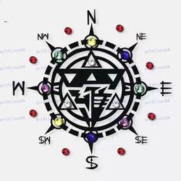 Wholesale New Hot Sale Sexy Body Art Crystal Compass Temporary Tattoo Sticker