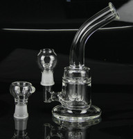 Wholesale two functions new glass bongs water pipe with oil dome nail and glass bowl