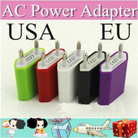 other For Apple iPhone Universal Chargers 50XX AC Power Adapter US Plug USB Wall Travel Charger US EU Adapter for iphone 4 5 5S for Samsung Galaxy Cellphones Multi-color A