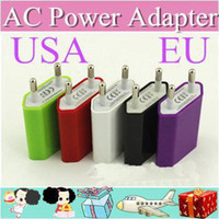 other For Apple iPhone Universal Chargers 1000XX AC Power Adapter US Plug USB Wall Travel Charger US EU Adapter for iphone 4 5 5S for Samsung Galaxy Cellphones Multi-color A