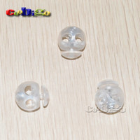 cord stoppers - 100pcs Pack Frost Ball Stopper Cord Lock Roundness Clear Transparent Size quot quot FLS062 T