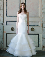 Cheap Exquisite Sweetheart Mermaid Trumpet Wedding Dresses Stretch Mikado Detailed Layered and Hand Sewn Lace and Chapel Train Bridal Gowns 2014