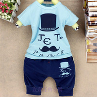 Unisex Summer Short The new 2014 summer children's Letter pattern cotton T-shirt suit Boys girls clothes children baby dresses