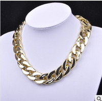 Wholesale Fashion Chunky Rose Gold Twisted Link Chain Ladies Statement Choker Necklace Jewelry