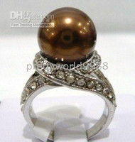 Band Rings american gps - AAA genuine GP Chocolate Shell Pearl Ring Size