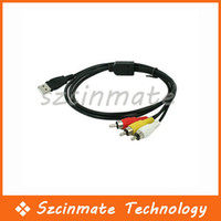 Wholesale USB Male A to RCA AV A V TV Adapter Cord Cable
