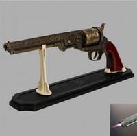 antique gun stocks - Antique Colt U S Navy Revolver Gun Model Heavy Pistol Lighter Gun Shape Lighter