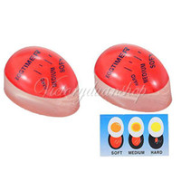 Wholesale Magic Ingenious Color Changing Egg Timer Clock Kitchen Cook Tool Soft to Hard Boiled Perfect Boil Thermometer