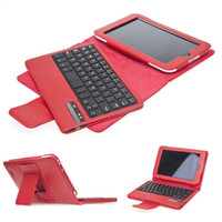7'' For ASUS For Ipad 2/3 Removeable Wireless Bluetooth Keyboard PU Leather Case Cover For Nook HD 7 Red