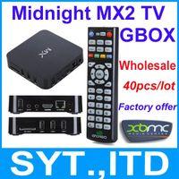 Wholesale CS838 G BOX Midnight MX2 Dual Core Android Smart TV BOX XBMC Media Player MX Amlogic GBOX Cortex A9