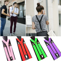 Wholesale Unisex Clip on Suspenders Elastic Y Shape Adjustable Braces Slim Men Ladies Trouser Braces Suspenders L03151