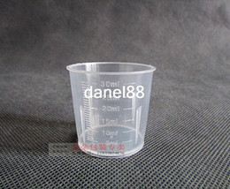 Wholesale 30ml plastic measuring cup measuring cup syrup ml graduated cylinder PP plastic material instruments ml aliquots