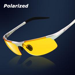 Wholesale aluminum magnesium car drivers night vision goggles anti glare polarizer sunglasses Polarized Driving Glasses