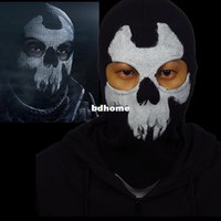 Wholesale high quality balaclava face ghost skull mask hood call of duty biker halloween skateboard factory direct