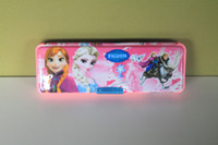 Wholesale Frozen Sparkle A stationery case Princess Stationery Box with Pencil Sharpener Plastic Stationery Box Cartoon pencil box