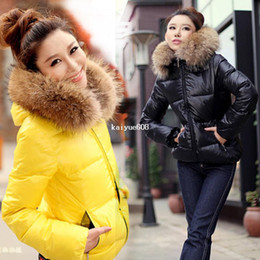 Wholesale manteaux Fashion Ladies Winter épais Hoodies à capuche femme fourrure collier Parka vêtements Stock prêt Drop livraison gratuite