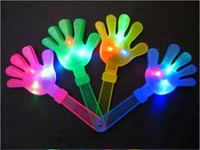 Wholesale Factory Price LED Cheering Plastic hand clapper noise maker party product cm K07820