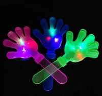 Wholesale EMS LED Cheering Plastic hand clapper noise maker party product cm