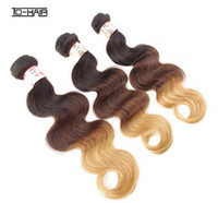 Chinese Hair Natural Wave  Bestbuy Hot Selling Ombre Brazilian Hair Weave 1b 4# 27# Remy Hair Extensions Queen Hair Products Virgin Body Wave Hair Weft Three Tone