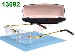 Una visión superior en venta-calidad superior elegantes gafas de montura de gafas marcos de metal en la pierna del cuidado de la visión de la marca nueva en la caja de las etiquetas 6pcs