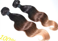 Cheap Bestbuy hot sale 5A quality ombre hair extensions 1b #4 27# three tone color Peruvian virgin hair body wave weft 3pcs lot