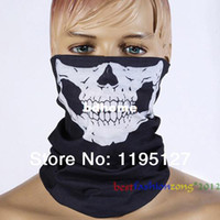 Wholesale Bicycle Motorcycle Ski Skull Lower Half Face Mask CS Ghost Grimace Scarf Multi Use Neck Warmer Windproof Cool