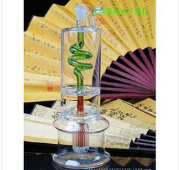 A full set of classic color layer 2 filter glass water pipes
