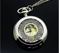 Sport Unisex Quartz Retro bronze Imperial crown Hot selling classical Pocket Watch Quartz Necklace watch Pendant Chain Clock XH110 Free Shipping