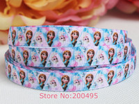 Wholesale quot mm New style Frozen ribbon Printed grosgrain ribbon Foe ribbons yards roll XZD