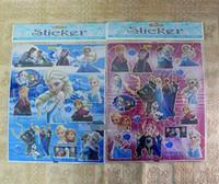 Wholesale Children s Day Gifts Kids Frozen Princess Elsa Anna Fashion Sticker Kid Child Sonw Queen Tags Children Birthday Gift Paster Decal D2658