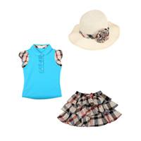 Children 3pcs Sets Girls Summer sets T- shirts+ tutu skirt+ hat...