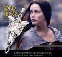 al por mayor elfos de la vendimia-Collares vintage joyas de plata de las mujeres El Señor De Los Anillos Elfo Princesa Arwen Crepúsculo Estrella collar de cadena colgante de imitación M21