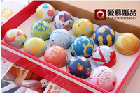 Favor Boxes Pink Metal 50Pcs Lot Egg Candy Boxes Circle Ball Wedding Box Favor Holders Free Shipping
